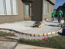 Gravel For Patio Base Concrete U2013 Colored Stamped Patio U2013 Compacting Gravel Base 2
