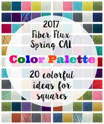 fiber flux spring cal color inspiration 20 color palette ideas