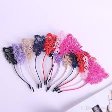 hair sticks hot headbands baby hair sticks cat ear band lace hair