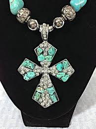 bead cross pendant necklace images Turquoise cross necklace clipart jpg