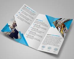 brochure psd template 3 fold free modern blue tri fold brochure template psd titanui