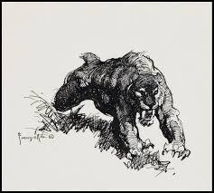 saber tooth tiger sketch by frank frazetta 1970 u0027s art