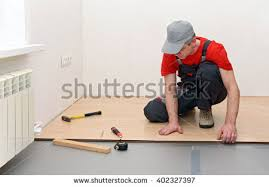 wood floor installation stock images royalty free images