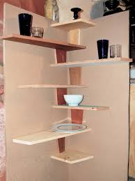 corner wall shelf glass