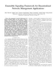 extensible signaling framework for decentralized network
