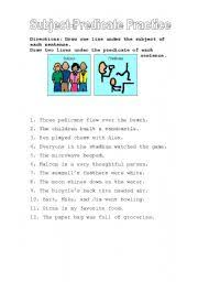 english worksheets subject and predicate worksheets page 3