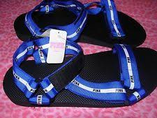 pink slides pink s secret slide sandals strappy blue black medium 7 8