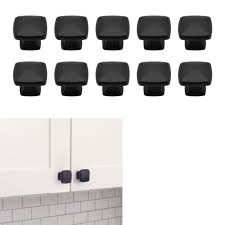 kitchen cabinet door knobs black 10 pack matte flat black cabinet hardware modern farmhouse kitchen bath drawer door square deco knob 1 25 diameter