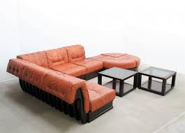 vintage leather modular sofa by luciano frigerio for sale at pamono