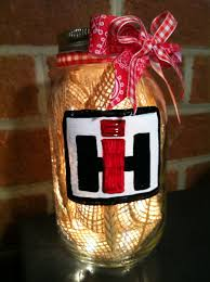 international harvester home decor home decor rustic decor mason jar decor lit mason jar