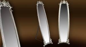 miroir de chambre sur pied miroir psyché baroque sur pied finition argent