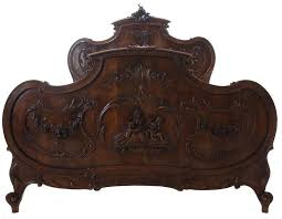 french 19th century louis xv walnut 3 piece bedroom set for sale