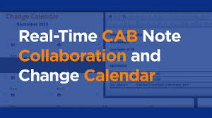 Changegear Service Desk Changegear Change Manager Cab Notes Change Calendar Meritide