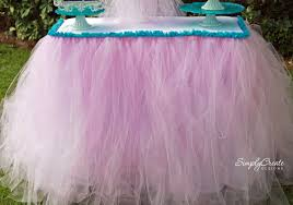 how to make tulle skirt no sew tulle table skirt catch my party