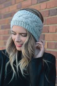 crochet hairband twisted knot knit crochet headband