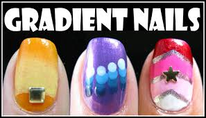 gradient nail art designs fading ombre nails tutorial how to