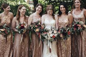 gold bridesmaid dresses a dc wedding with shimmery gold bridesmaids dresses and boho florals