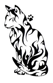 amazing black tribal cat design