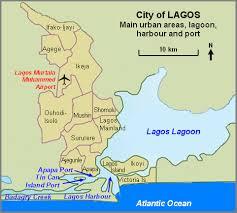 lagos city map lagos map
