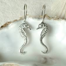 earrings uk seahorse drop earrings uk handmade seashore jewellery