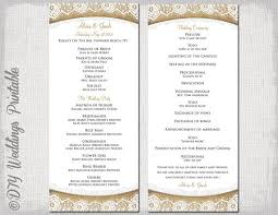 program template for wedding wedding ceremony program template release portray sle wording