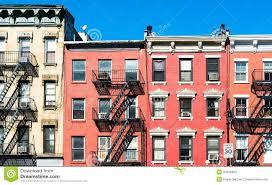 New York House Typical New York Facades Stock Photos Image 34555993