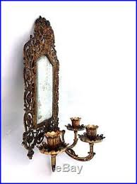 Sconce Mirror Vintage Bradley And Hubbard Brass Wall Sconce Mirror With 3