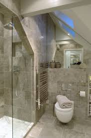 Modern Bathroom Ideas Pinterest Luxurious Shower Room In Grayscale Narrow Seat Against Far Wall
