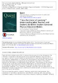 i u0027m a facilitator of learning u201d understanding what teachers and