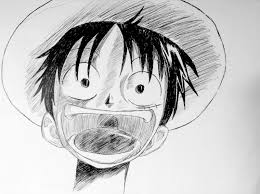 luffy pen drawing by jackthareappper on deviantart