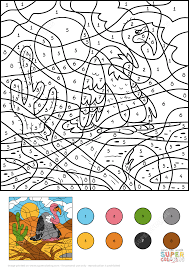 vulture color by number free printable coloring pages