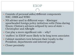 Role Of Cabinet Members The Cabinet And Exop