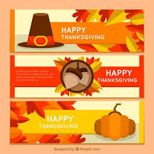 happy thanksgiving day banners free vector free resources