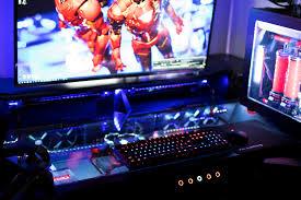 Pc Desk For Gaming by My Vr Battlestation Setup Htc Vive Custom Desk U0026 Tower For Vr
