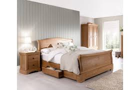 Oak Sleigh Bed Solid Oak Sleigh Beds In 3 Sizes Furniture4yourhome