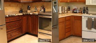 how to refinish cabinets cabinet refinishing before and after therobotechpage