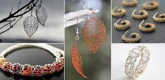 leaf pattern necklace wonderful diy wire crochet jewelry free pattern