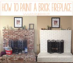 how to paint a brick fireplace brick fireplace bricks and paint