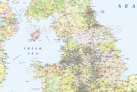 Map Of British Isles Digital Vector British Isles Uk Political Road U0026 Rail Map