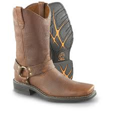 brown biker boots men u0027s durango boot harness boots brown 180664 motorcycle