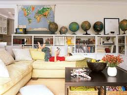 diy decoration with globes and decorating with maps of the world