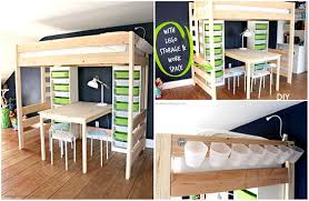 Building A Loft Bed With Storage by Diy Loft Bed With Desk And Storage