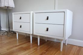 blue lamb furnishings pair of white lacquered nightstands sold