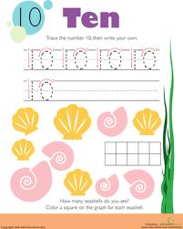 tracing numbers u0026 counting 10 worksheet education com