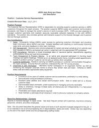 resume for customer service representative in bank customer service resume description job bank collection of
