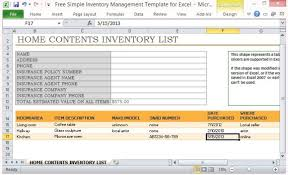 Property Management Excel Template Free Simple Inventory Management Template For Excel