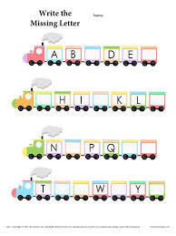 alphabet train worksheet train activities the missing and fun