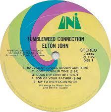 Country Comfort Elton John Vinyl Album Elton John Tumbleweed Connection Uni Usa