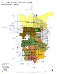 Map Of Salt Lake City Utah by Salt Lake Valley Groundwater Management