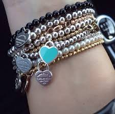 beads bracelet tiffany images Stack of tiffany co bracelets yes please jewelry jpg